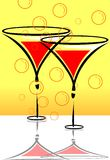goblets of drinks Royalty Free Stock Images