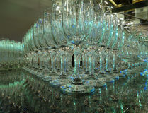 Goblets for evening party Stock Images