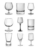 Goblets for hard liquors Royalty Free Stock Images