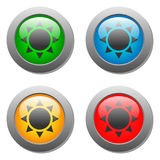 Goblets icon glass button set. In vector Stock Photo