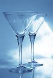 goblets martini δύο Στοκ Φωτογραφία