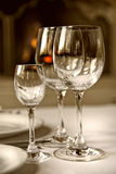 Goblets On The Table Stock Images
