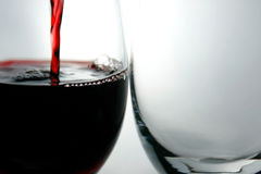 Goblets and Red Wine Royalty Free Stock Photo