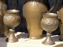Goblets. Some goblets at a market place Royalty Free Stock Images