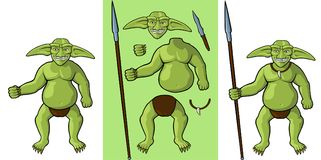 Goblin body parts and equipment royalty free illustration
