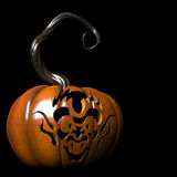 Goblin. Crazy expressions and characters carved on a Halloween pumpkin Stock Photography