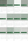 Goblin and fuscous gray colored geometric patterns calendar 2016 Stock Photography