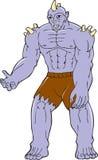 Goblin Monster Horn Cartoon Stock Image