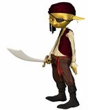 Goblin Pirate Royalty Free Stock Image