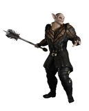 Goblin Prince with Mace Stock Image