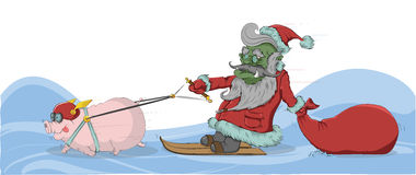 Goblin - Santa Claus. Royalty Free Stock Photos