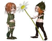 Goblin Valentine's Day Flower Stock Image