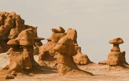 Goblin valley. Rock formation in goblin valley national park Stock Photo