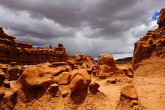 Goblin Valley. Is a little known Utah state park located a few miles north of Hanksville Stock Images