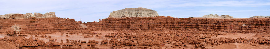 Goblin Valley Panorame Royalty Free Stock Photo