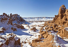 Goblin Valley Snowy Canyon Royalty Free Stock Image