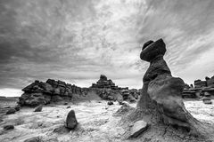 Goblin Valley State Park Black and White Royalty Free Stock Photos
