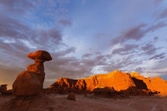 Goblin Valley State Park at Sunset Stock Photo