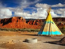 Colorful Indian Teepee stock photography