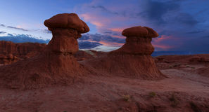 Goblin Valley at Sunset Royalty Free Stock Photos