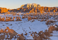 Goblin Valley Winter Overlook Royalty Free Stock Images