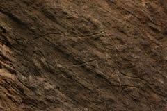 Gobustan岩石艺术 免版税库存图片