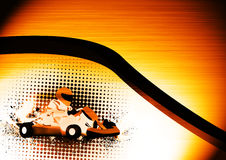 Gocart. Abstract grunge color Gocart background with space Stock Photo