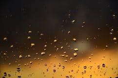 Gocce al tramonto Immagini Stock Libere da Diritti