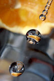 Gocce arancioni. Immagine Stock Libera da Diritti