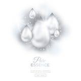 Gocce bianche dell'olio della perla illustrazione di stock