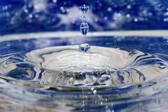 Gocce blu Fotografie Stock