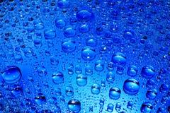 Gocce blu fotografia stock