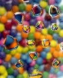 Gocce colorate fotografie stock