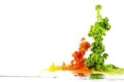Gocce colorate astrazione Immagini Stock