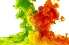 Gocce colorate astrazione Fotografia Stock Libera da Diritti