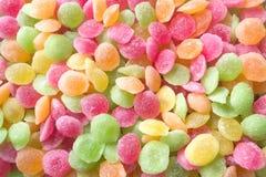 Gocce colorate caramello Fotografia Stock