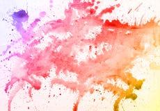 Gocce Colourful dell'acquerello su fondo bianco royalty illustrazione gratis