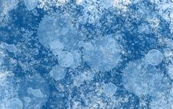 Gocce del blu del fondo Fotografia Stock