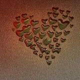 Gocce del cuore Immagine Stock