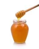 Gocce del miele da drizzler Immagini Stock
