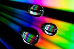 Gocce del Rainbow Fotografia Stock