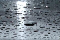 Gocce dell'acqua - argento Fotografia Stock