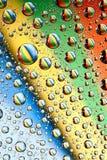 Gocce dell'acqua del Rainbow Immagini Stock Libere da Diritti