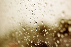 Gocce dell'acqua piovana Fotografia Stock