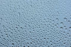 Gocce dell'acqua su vetro Immagini Stock Libere da Diritti