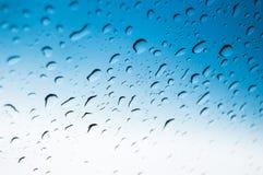 Gocce dell'acqua sul vetro Fotografia Stock Libera da Diritti