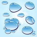 Gocce della pioggia Fotografia Stock
