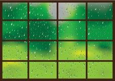 Gocce della pioggia su una finestra royalty illustrazione gratis