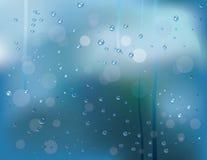 Gocce della pioggia su vetro Fotografia Stock Libera da Diritti