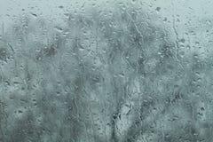 Gocce della pioggia sul parabrezza Fotografia Stock